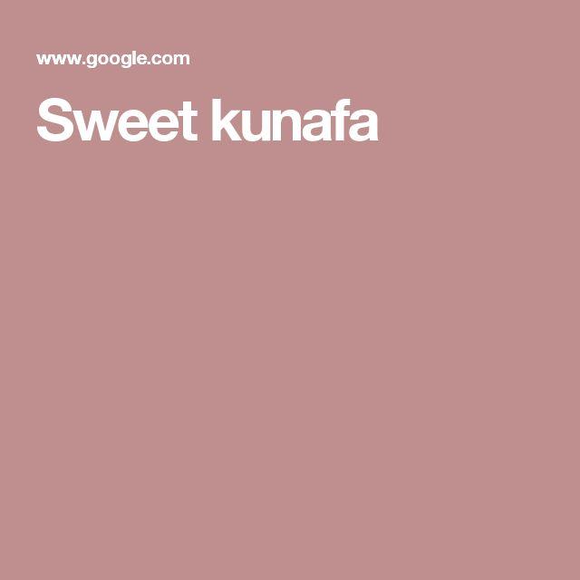 Sweet kunafa
