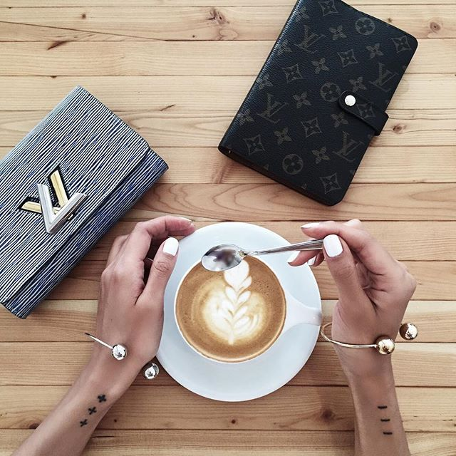 Easing into Saturday w coffee & minimal pieces from @thpshop.co - shop the Barbell Cuff bracelets online www.THPSHOP.co #THPminimaliste #thpshopco