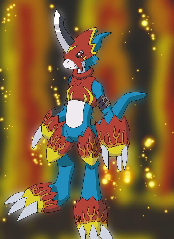 Flamedramon no armor