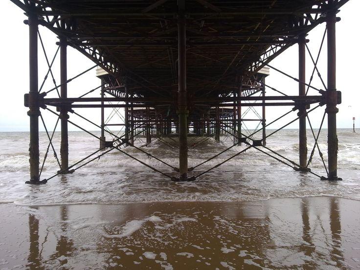 Under the pier, Cromer, Norfolk.