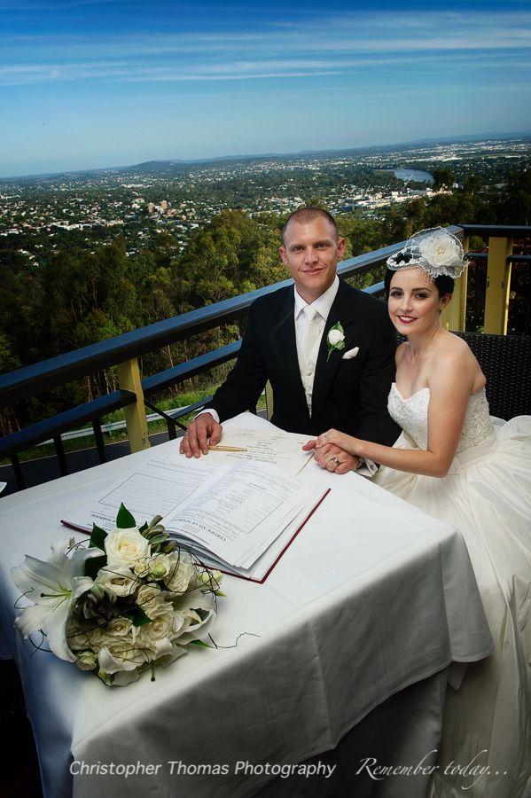 Brisbane Wedding Photographer, Summit Restaurant Mt Coot-tha Wedding Ceremony, Christopher Thomas Photography