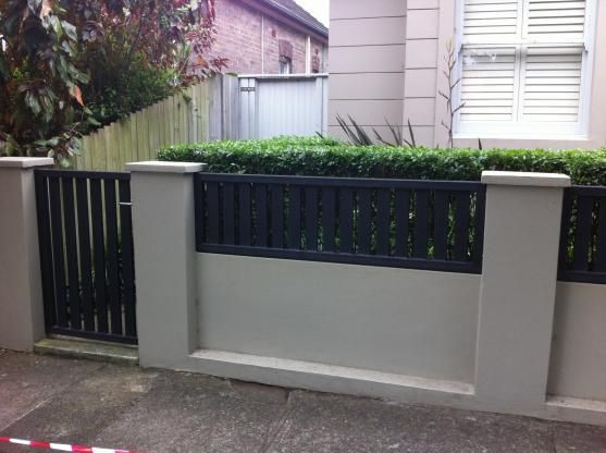 9 best Fencing images on Pinterest Brick fence Fence design and