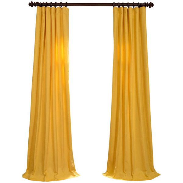 Great Mustard Yellow Cotton Twill Curtain ❤ Liked On Polyvore Featuring Home,  Home Decor, Window