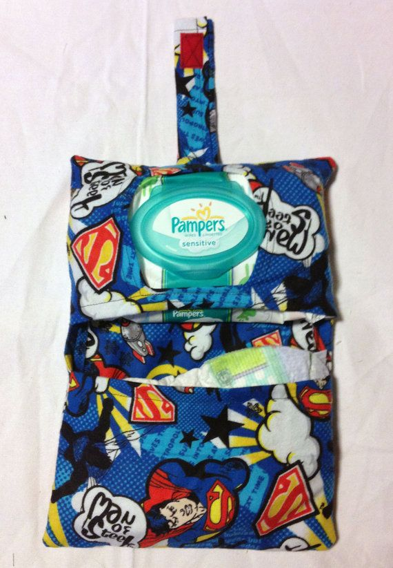 Father's Day Gift Collection- Superman for your Super Dad Diaper Clutch- Cute Father's Day gift for new dad by RilosAndMiMi, $12.00
