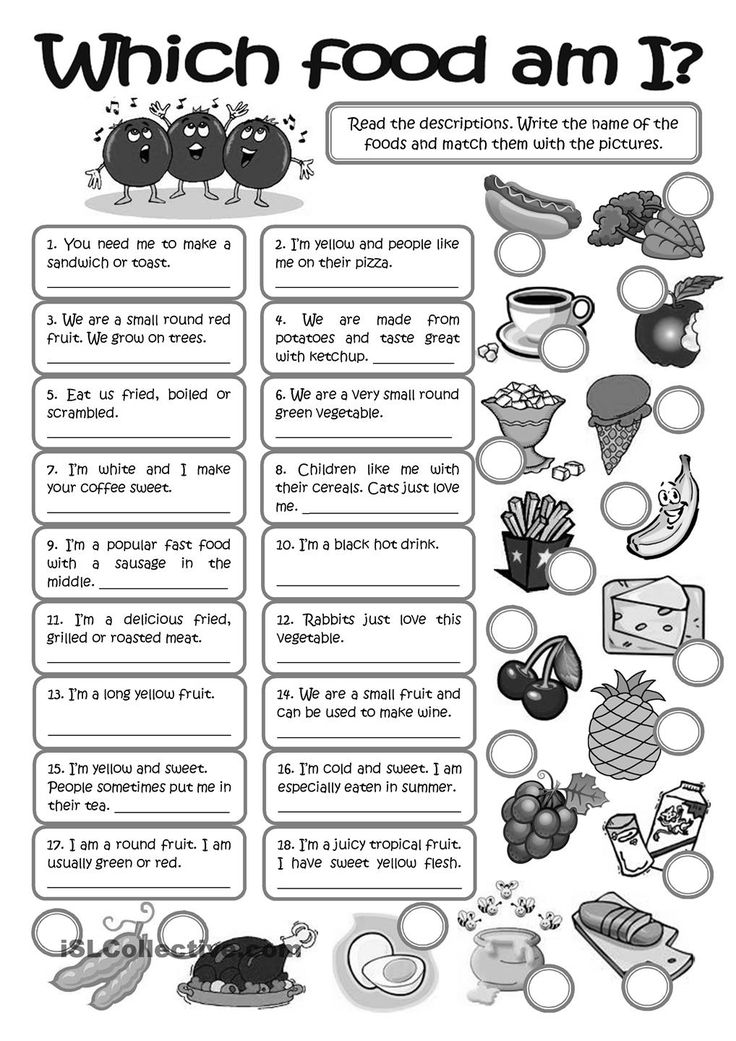 WHICH FOOD AM I? - vocabulary practice