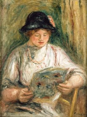 Pierre-Auguste Renoir - Reading woman…