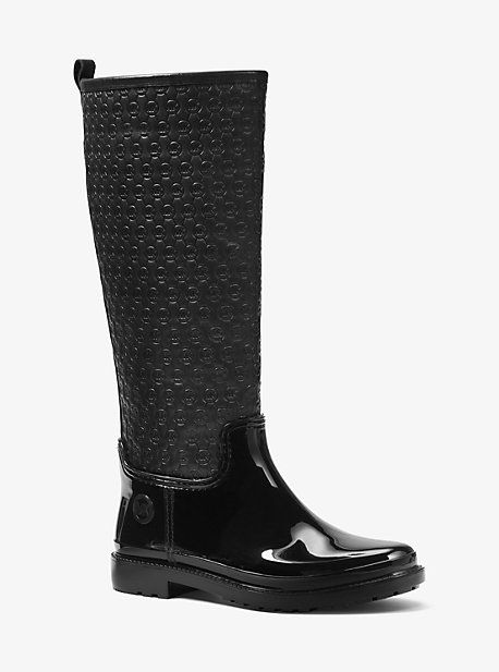 Blakeley Embossed-Leather And Rubber Rain Boot