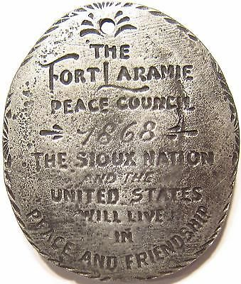 1868 Fort Laramie Peace Council Sioux Nation Native American Indian Peace Medal