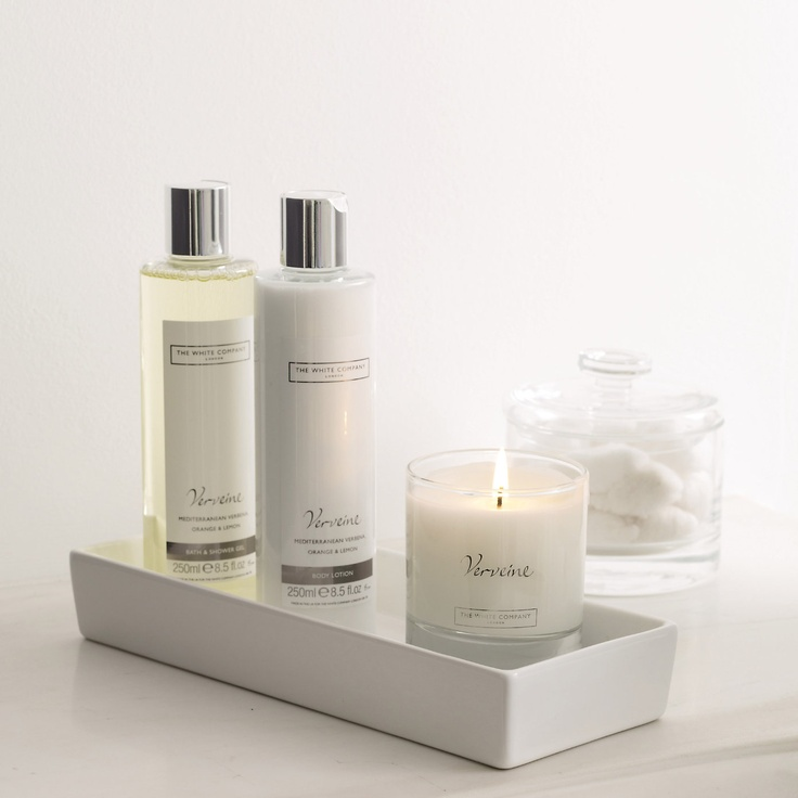 Buy Bathroom  Bathroom Accessories  Ceramic Rectangular Container from The White Company