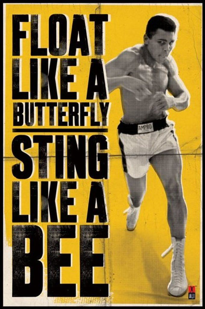 Muhammad Ali - Float Like A Butterfly - Official Poster. Official Merchandise. Size: 61cm x 91.5cm. FREE SHIPPING