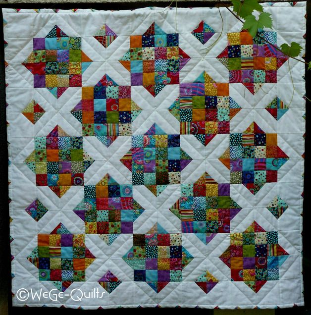 For this quilt you will find the instructions on my blog: http://wege-quilts.blogspot.de/