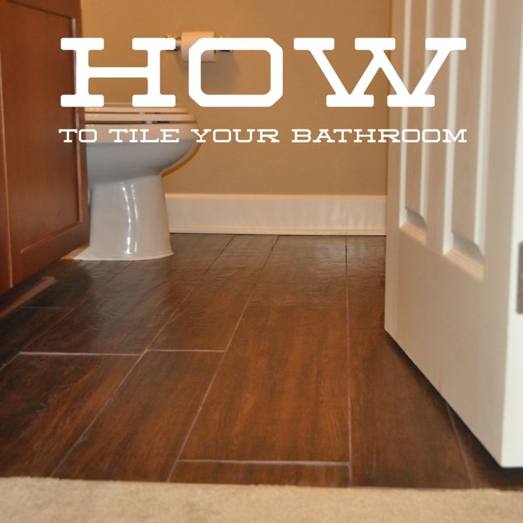 Awesome tutorial on How to Lay Wood Tile Floors in Your Bathroom. Easy to follow and the results looks amazing! Marlowe-Lane.com