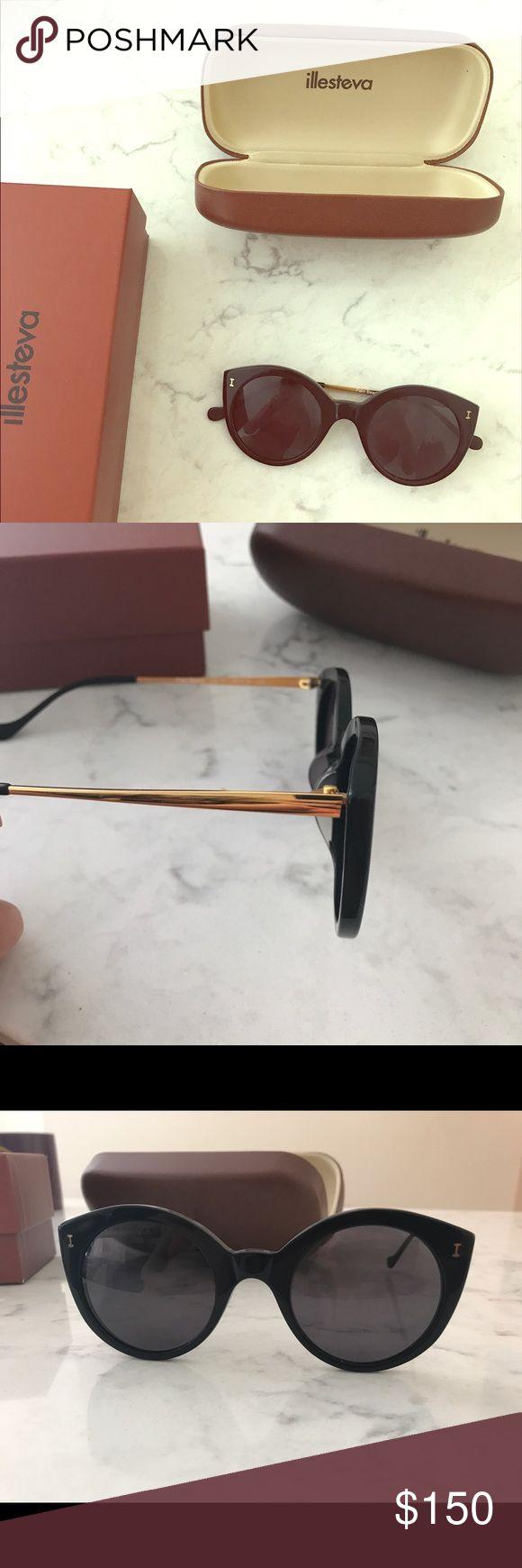 Illesteva sunglasses 2017 Product listing: https://illesteva.com/palm-beach, worn a few times, no damage. Black and gold frames. Polarized. Illesteva Accessories Sunglasses