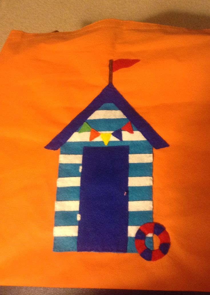 My aunt loves beach huts so I bought a plain tote bag and then designed a beach hut out of felt and sewed it onto the bag. I gave it to her for this Christmas so hoping to get feedback soon!