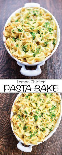 Lemon Chicken Pasta Bake is the perfect casserole for dinner!