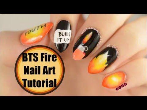 #BTS #Fire Inspired Nail Art Tutorial