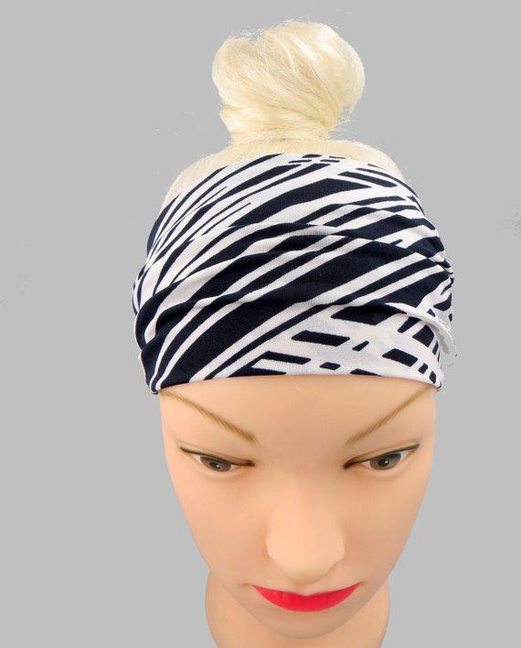 Wide Headband Stripes Workout Headband Sport Head di ragazzamagica