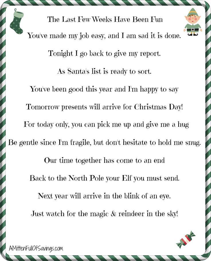 Elf on the shelf goodbye letter christmas pinterest for How to get elf on the shelf magic back