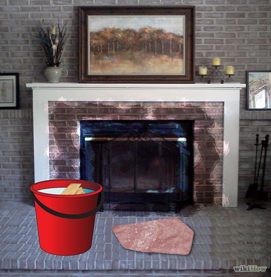 how to clean soot from brick