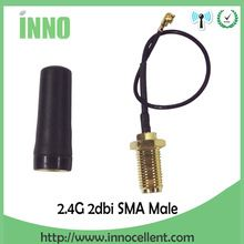 <Click Image to Buy>  20pcs 2.4GHz Wifi uhf Antenna Omni Directional SMA Male 2.0dBi For rf Communication   PCI U.FL IPX to RP SMA Male Pigtail Cable *~* Find out more on  AliExpress.com. Just click the VISIT button. #noeldeco