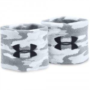 Under Armour UA Jacquard Wristbands - White / Overcast Gray / Black