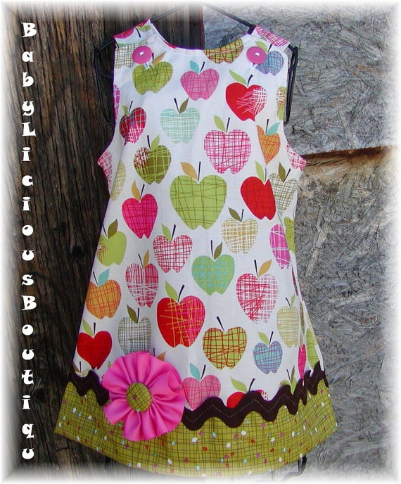 little girl's apple dress
