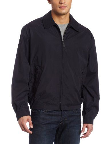 London Fog Men's Zip Front Light Mesh Lined Golf Jacket, Navy, large. For product info go to:  https://all4hiking.com/products/london-fog-mens-zip-front-light-mesh-lined-golf-jacket-navy-large/