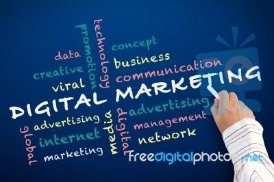 """Writing Digital Marketing""""Image courtesy of KROMKRATHOG / FreeDigitalPhotos.net"""""""