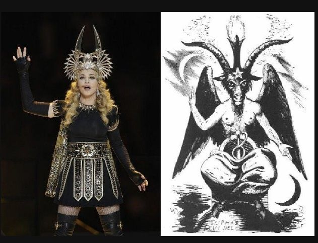 Madonna Illuminati Isis. If this crap goes on again at the super bowl I'm shooting my TV.