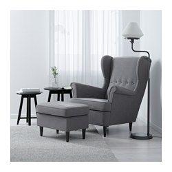 IKEA - STRANDMON, Öronlappsfåtölj, Nordvalla ljusgrå, , 10 års garanti. Läs om villkoren i garantibroschyren.