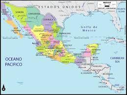 Resultado de imagen para mapa de la republica mexicana con division politica