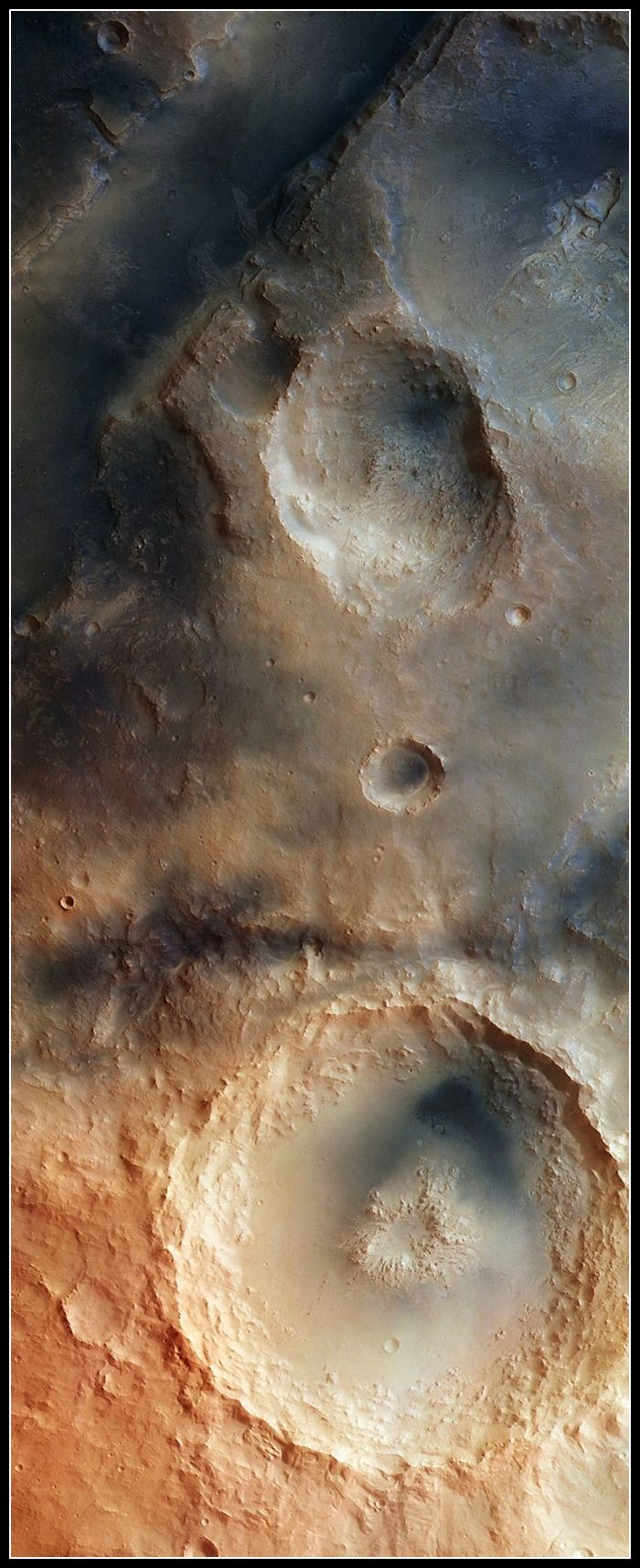 The Syrtis Major Volcanic Province - The Martian Surface Acquired by the High Resolution Stereo Camera on ESA's Mars Express Satellite, this image depicts a detailed region of the Martian Nili Fossae Graben system. This system is an area of great interest