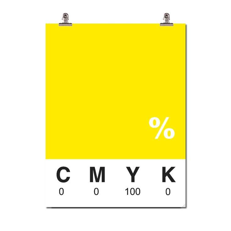 Yellow juliste ryhmässä Julisteet / Julisteet / Väri & Muoto @ ROOM21.fi (109462)