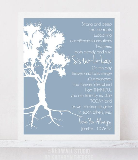 Gift For Sister In Law Wedding: Best 25+ Sister In Law Poems Ideas On Pinterest