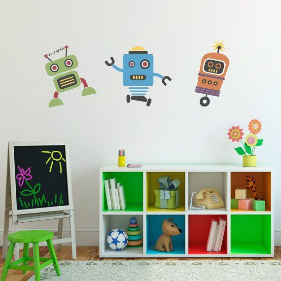 29 best sammy 39 s room images on pinterest child room kid for Robot bedroom