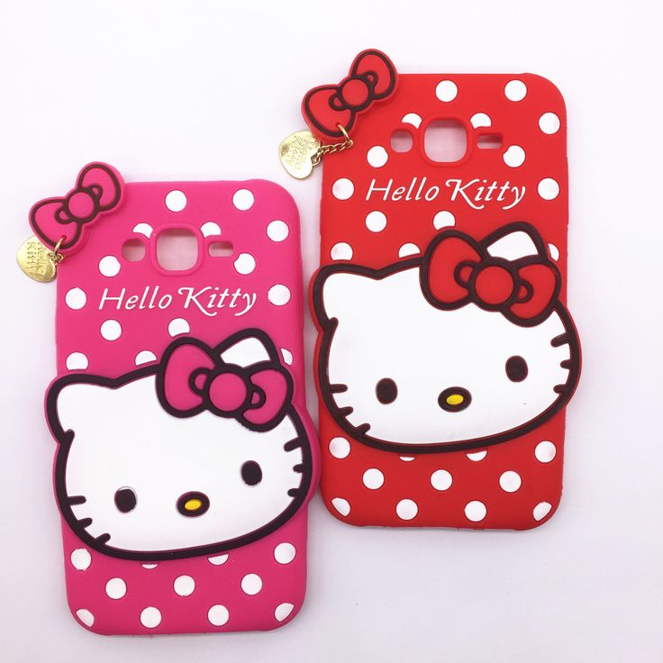 New 3D Cartoon Hello Kitty Case Soft Silicon Back Cover for Samsung Galaxy 2015 J5 J500 & J7 J700 Rubber Phone Shell