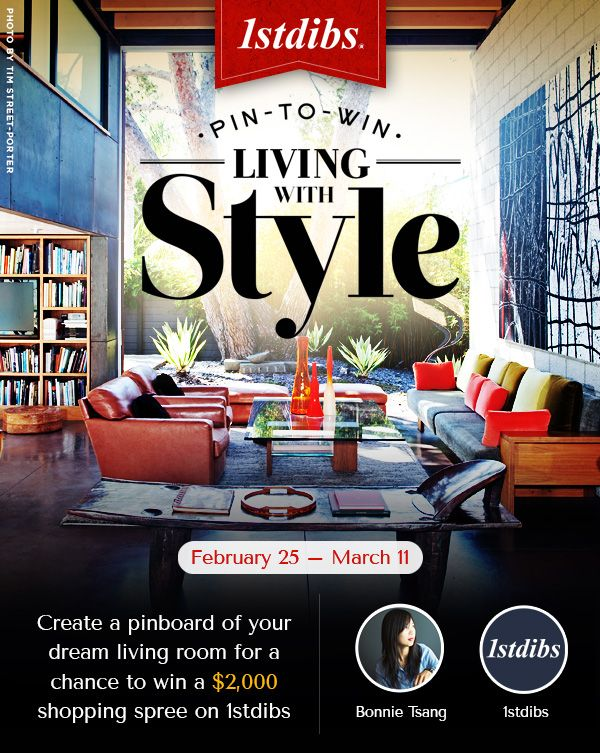 1stdibs   Design your dream living room. 3,500 USD in prizes. Enter now: 1stdibs.com/pintowin  #BeautifulThings