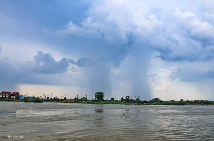 Storm over the Danube in Tulcea