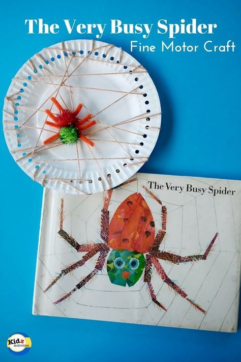 the very busy spider paper plate craft kidz activities classroom