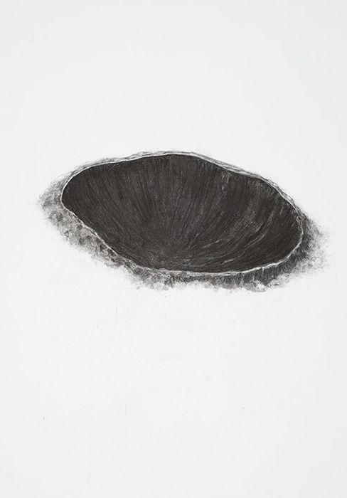 // Flora Hitzing - untitled, charcoal on paper, 2010