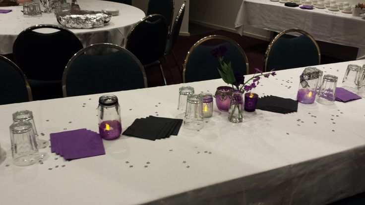 Another decorated table - we also had spray, silver 18s for the middle of each table.