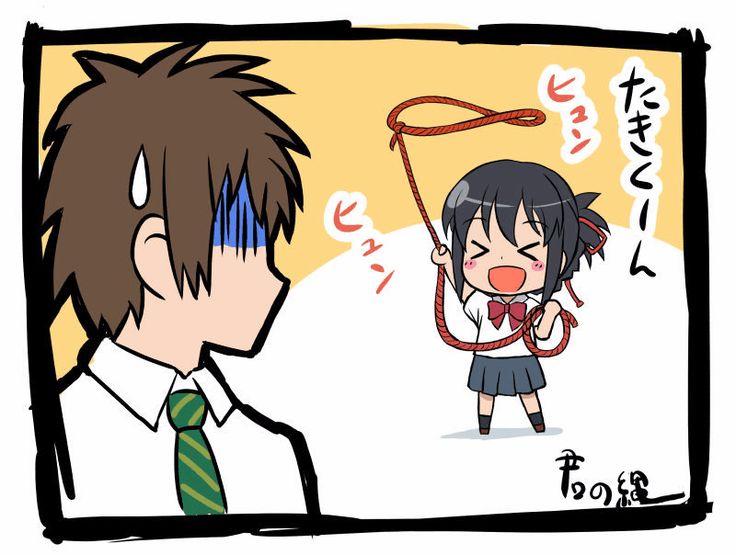 Animator : Shinkai Makoto, Kimi no na wa, Your name, หลับตาฝัน ถึงชื่อเธอ, Fanart, Joke, SD Characters, Tachibana Taki, Miyamizu Mitsuha