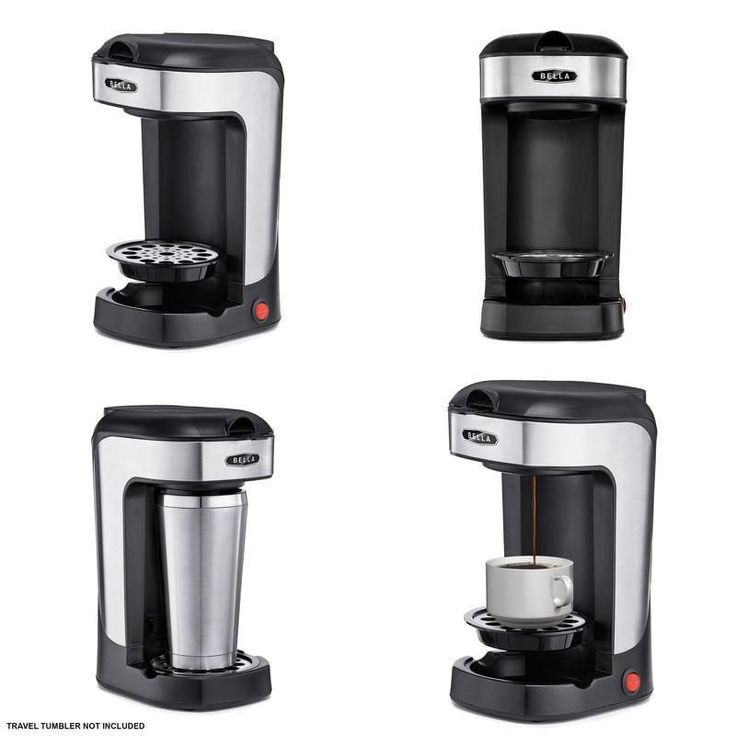 Serve Coffee Maker Single Cup Alternative To K-Cup Plus One Scoop One Cup Black #Bella