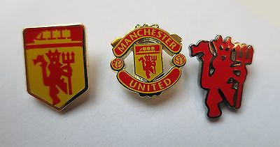 Official Manchester United – Lapel Pin / Badge (NEW in Packaging) Choice of 3