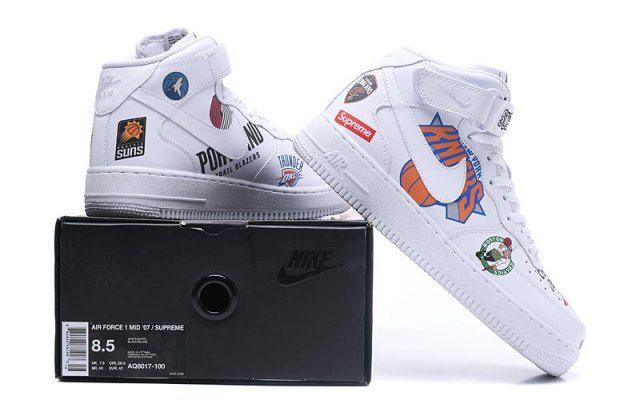 Supreme x NBA x Nike Air Force 1 High Retro Unisex Casual Shoes AQ8017-100 5de42e2f7b