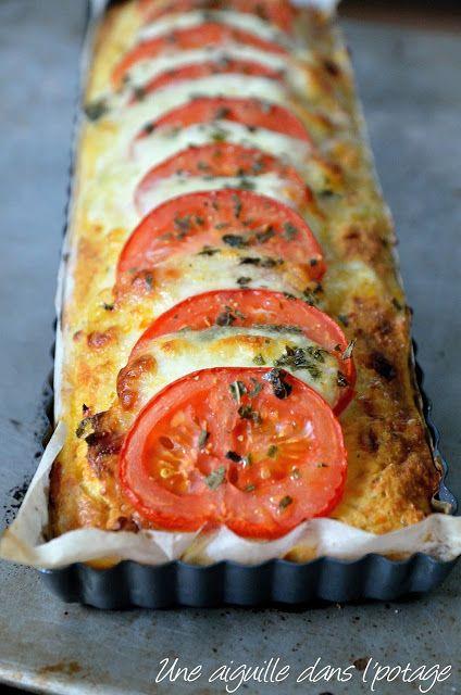 une aiguille dans l' potage: Pudding de pain chorizo-tomate-mozzarella