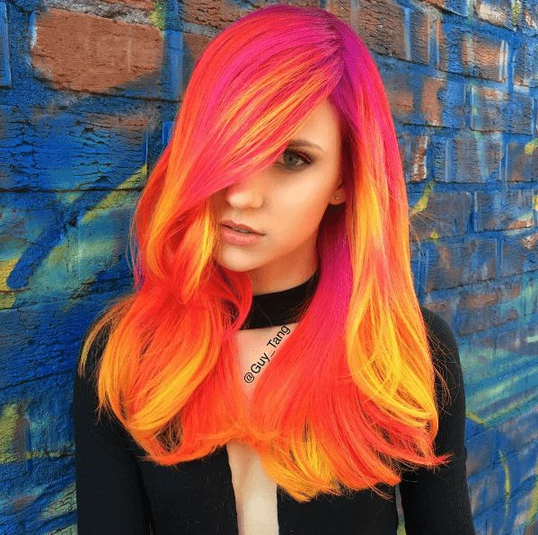 Neon phoenix hair colour trend firing up our Insta feeds!