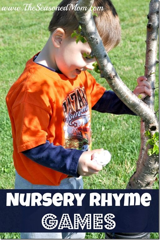 Nursery Rhyme Games - get your little ones up and moving with fun ways to act out classic nursery rhymes!  www.TheSeasonedMom.com