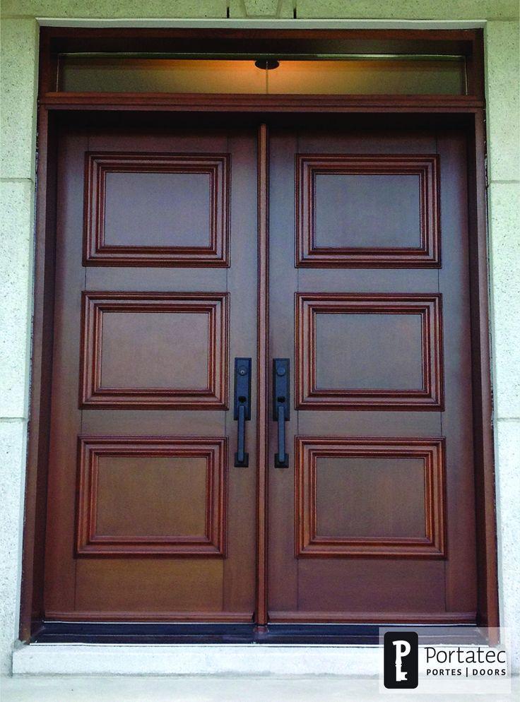 Exterior double doors without glass double doors