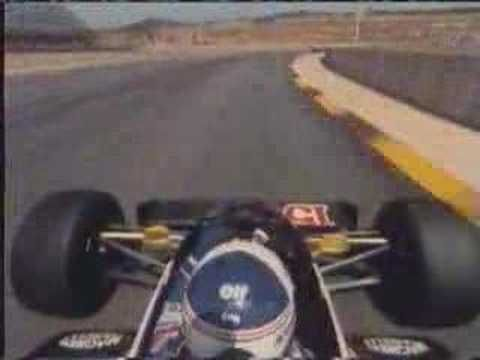 Kyalami 83 on board with Alain prost